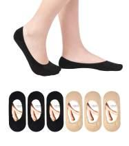 Women's No Show Liner Socks 6 Pairs Thin Low Cut Casual Socks Non Slip