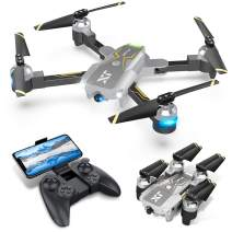 Drones with Camera for Adults – 120° Wide-Angle 720P HD CAM, APP Control w/AR Game Altitude Hold Optical Flow Positioning Ensure Steady Shot, Easy to Use & Beginner Friendly, One Key Take Off/Landing