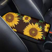 chaqlin Center Console Armrest Cover Pad Universal Fit Most Car Truck SUV Sedan Sunflower Print Vehicle Armrest Cover Protector