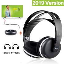 Monodeal Wireless Headphone for TV Watching Listening, Rechargeable Wireless TV Headset with Charging Dock Transmitter, Ideal TV Headset with Volume Control for All and The Seniors