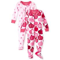 The Children's Place Baby Girls Blanket Sleeper, Pack of Two