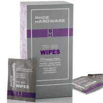 Shoe Hardware Sneaker Cleaner Wipes - Individually Packed Shoe Care Wipes, 36 Count