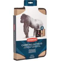 Derwent Carry-All A4 Folio, for Artist, Drawing Supplies Accessory, Stores 68 Pencils, Beige (2302619)
