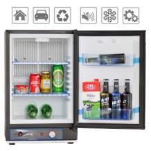 Smad Small Propane Fridge 3 Way Refrigerator for RV Outdoor Camper Gas 110V 12V,1.4 Cu.ft.