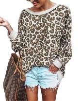 Vanbuy Women's Leopard Animal Print Shirt Long Sleeve Lightweight Pullover Sweatshirts Casual Fall Tops Blouses