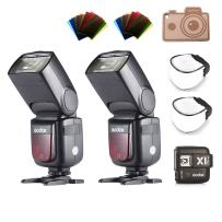 Godox V860II-C TTL Flash with Li-ion Battery and X1T-C Trigger Transmitter for Canon Cameras EOS 6D 50D 60D 1DX 580EX II 5D Mark II III (2 x V860II-C+1 x X1T-C)
