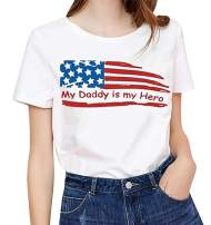 4th of July T-Shirt Women Baseball Graphic American Flag Summer Short Sleeve Tee Tops