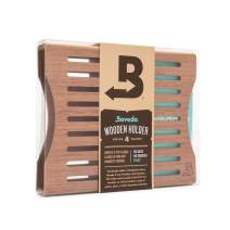 Boveda for Cigars | Wood Boveda Holder for Humidor | for Use with Four (4) Size 60 Boveda (Sold Separately) | Includes Magnetic and Velcro Mounting Kits | 1-Count