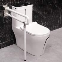 Flip-Up Toilet Grab Bar for Elderly, HePesTer 330 Ib Heavy Handicap Bathroom Safety Garb Bars, Non-Slip Shower Assistance Support Bars Easy to Assemble (White with Leg - 30 Inch)