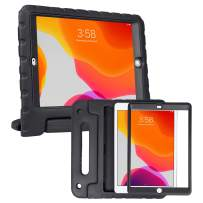 HDE iPad 7th Generation Case for Kids with Built-in Screen Protector – iPad 10.2 inch 2019 Case for Kids Shock Proof Protective Heavy Duty Cover with Handle Stand for 2019 Apple iPad 10.2 - Black