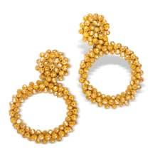 FIFATA Bohemian Statement Beaded Earrings - Handmade Fringe Dangle Drop Earrings for Women