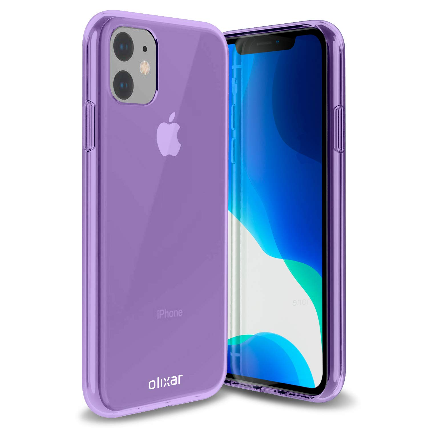 Olixar for iPhone 11 Gel Case - Flexible Slim Silicone TPU - FlexiShield - Thin Protective Cover - Wireless Charging Compatible - Purple
