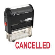 Cancelled Self Inking Rubber Stamp - Red Ink