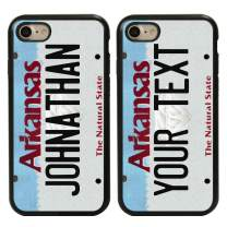 Guard Dog Cool Custom Arkansas License Plate Cases for iPhone 7/8/SE Personalized – Create Your Own License Plate on a Hybrid Phone Case (Black) –