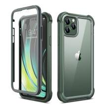 "Dexnor iPhone 11 Pro Case with Screen Protector Clear Rugged Full Body Protective Shockproof Hard Back Defender Dual Layer Heavy Duty Bumper Cover Case for iPhone 11 Pro 5.8"" - Green"