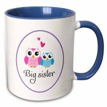3dRose 157415_6 I love my big sister Mug, 11 oz, Blue