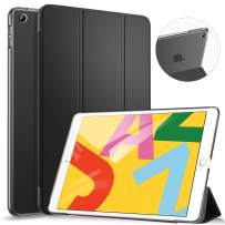 Ztotop Case for iPad 10.2 Inch 2019 - Slim Lightweight Trifold Stand Smart Shell with Auto Wake/Sleep + Rugged Translucent Back Cover for iPad 7th Generation 10.2 2019, Black