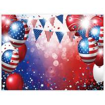 Allenjoy 8x6ft Independence Day Backdrop for Photography American Flag Stars Ballon US Veterans Day Decor Fourth 4th of July Patriotic Party Banner Photo Studio Booth Newborn Baby Shower Background