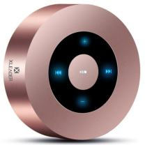 XLEADER SoundAngel (2 Gen) 5W Touch Bluetooth Speaker with Waterproof Case, 15h Music, Louder Crystal HD Sound, Premium Mini Portable Bluetooth Speaker for iPhone iPad Tablet Shower, Rose Gold
