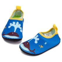 RANLY & SMILY Toddler Water Shoes Kids Barefoot Beach/Pool Swim Aqua Socks for Toddler/Boys/Girls