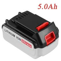 5.0Ah Lithium Ion Replacement for Black and Decker 20V MAX Battery LBXR20 LB20 LBX20 LBXR2020-OPE LBXR20B-2 LB2X4020