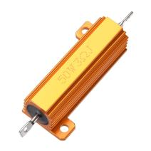 uxcell 50W 3 Ohm 5% Aluminum Housing Resistor Screw Tap Chassis Mounted Aluminum Case Wirewound Resistor Load Resistors Gold Tone 1pcs