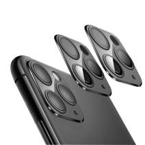Designed for iPhone 11 Pro Max Camera Lens Protector,iPhone 11 Pro Camera Lens Protector,NO Glare HD Clear Ultra-Thin Anti-Scratch Tempered Glass (Black)