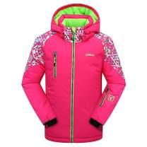 PHIBEE Girls' Waterproof Windproof Outdoor Warm Snowboard Ski Jacket
