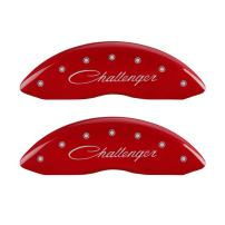 MGP Caliper Covers 12001SCLRRD Caliper Cover with Red Powder Coat Finish, (Set of 4)