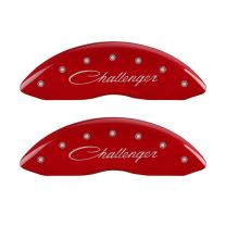 MGP Caliper Covers 12005SCLSRD Caliper Cover with Red Powder Coat Finish, (Set of 4)