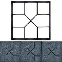 15.75x15.75〃 HomDSim Path Maker Mold,Reusable Concrete Cement Stepping Stone Pattern Design Paver Paving Path Maker Model,DIY Personalized Construction Boards for Garden Yard Patio Lawn Driveway