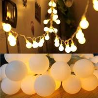 50 LED Globe Fairy Lights, 16 Feet Battery Operated Globe String Lights Starry Lights for Home Party Birthday Garden Festival Wedding Indoor Outdoor Use (Battery Powered)