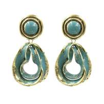 Feraco Womens Paint Off Oiled Dangle Earrings Vintage Personalized Water Drop Earring With Exquisite Box