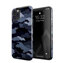 BURGA Phone Case Compatible with iPhone 11 PRO MAX - Navy Blue Camo Camouflage Cute Case for Women Thin Design Durable Hard Plastic Protective Case