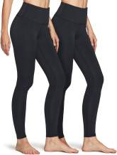 ATHLIO 2 Pack Women's Thermal Yoga Pants, High Waist Warm Fleece Lined Leggings, Winter Workout Running Tights