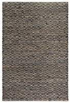 Fab Habitat, Jute & Recycled Cotton Area Rug/Floor Mat, Eco-Friendly Natural Fibers, Handwoven - Madera/Black & Natural, 2' x 3'