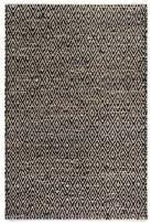 Fab Habitat, Jute & Recycled Cotton Area Rug/Floor Mat, Eco-Friendly Natural Fibers, Handwoven - Madera/Black & Natural, 2' x 3'