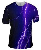 Yizzam- Violet Lightning Storm -Tshirt- Mens Shirt