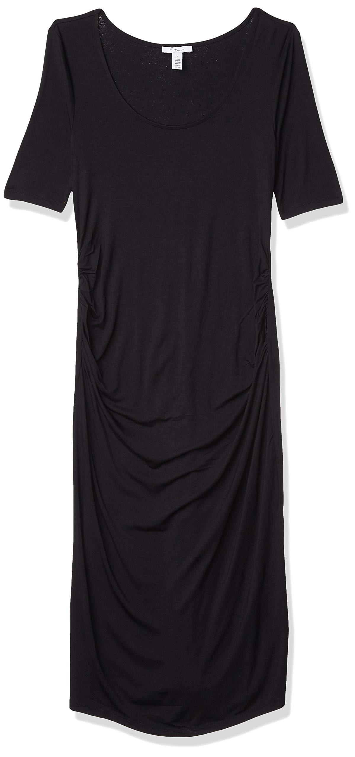 Amazon Brand - Daily Ritual Women's Maternity Elbow-Sleeve Dress