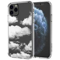 MOSNOVO iPhone 11 Pro Case, Cloud Pattern Clear Design Transparent Plastic Hard Back Case with TPU Bumper Protective Case Cover for iPhone 11 Pro (2019)
