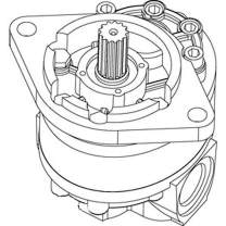 AT31208 One New Hydraulic Pump Fits John Deere Crawler Dozer 350 350B 450 450B