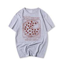 PESTANIX Mens Pizza Printed T-Shirt Short Sleeve Graphic Tees