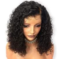 Sailk Hair Lace Front Wigs Human Hair Wigs Natural Curly Pre Plucked With Baby Hair Brazilian Wet Wavy Glueless Wig Remy Hair Bob Wigs For Black Women 18 inch