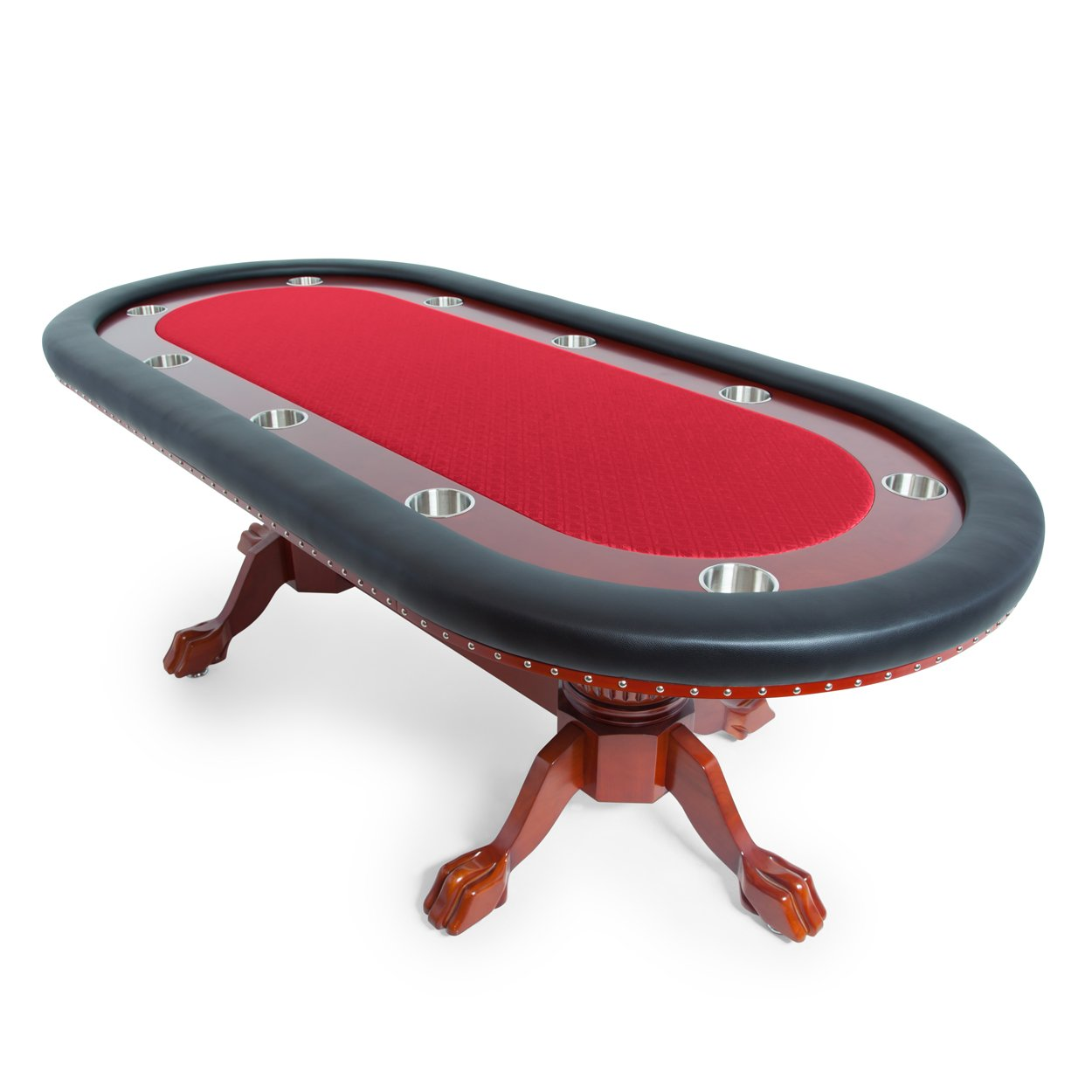 BBO Poker Rockwell Poker Table for 10 Players, 94 x 44-Inch Oval