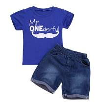 MetCuento Baby Boy Clothes Short Sleeve Tee Cotton T-Shirt and Short Sets Toddler 2 Pieces Playwear Summer Outfit