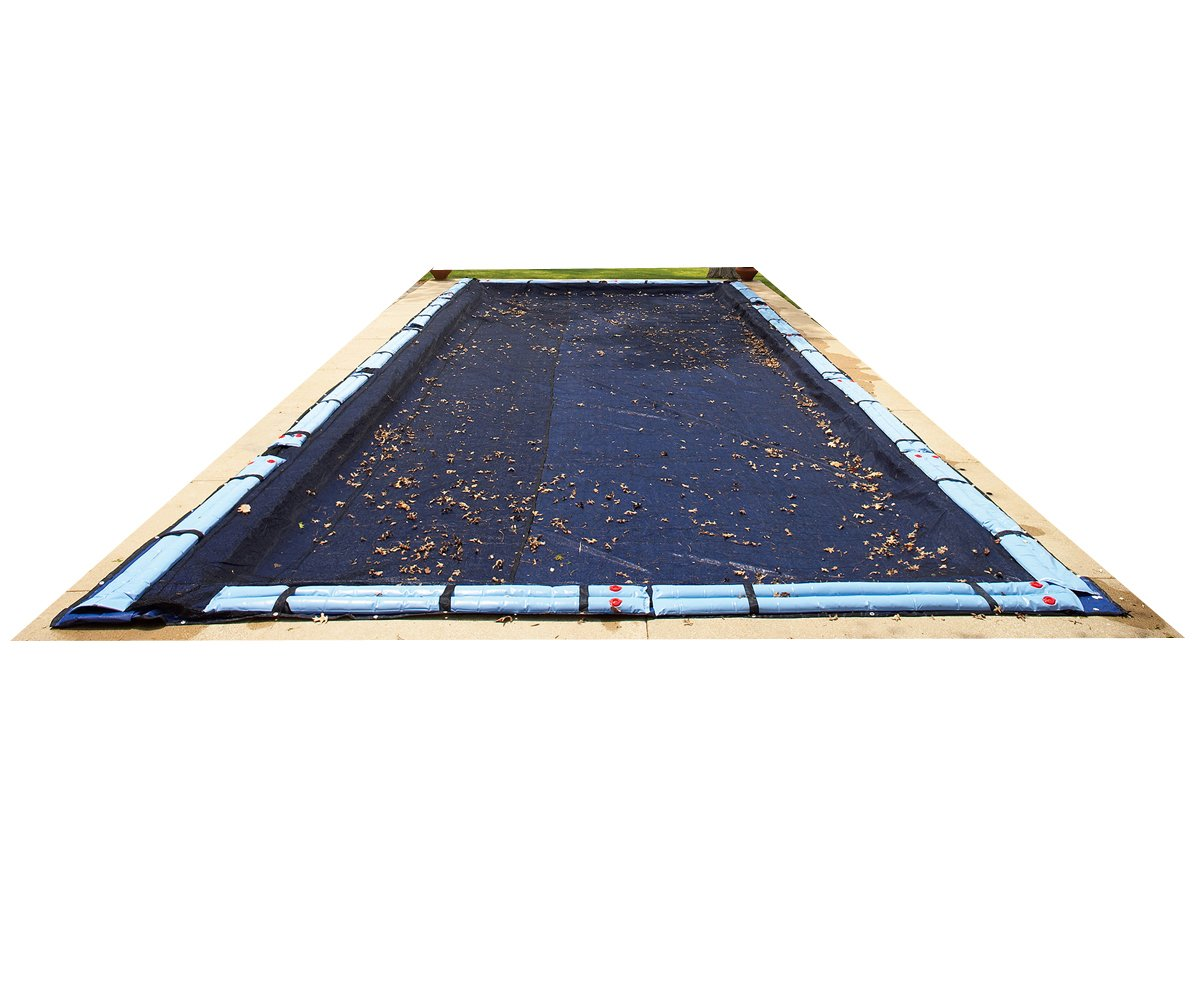 Blue Wave BWC564 20-ft x 40-ft Rectangular Leaf Net In Ground Pool Cover,Black