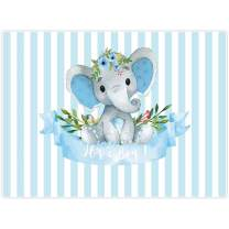 Allenjoy 8x6ft It's a Boy Elephant Backdrop for Baby Shower Party Blue White Banner Newborn Kids Prince Birthday Photography Background Cake Table Decoration Photo Booth Studio Props Favors Supplies
