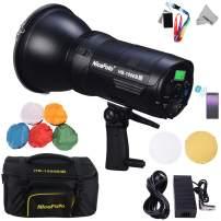 NiceFoto Daylight COB LED Video Light HB-1000B II CRI95+/TLCI95+, 20000lux@1M Bowens Mount, 2.4G Remote Wireless & APP Bluetooth Control, with AC Power Adapter PW-20 + 6600mAh Li-ion Battery