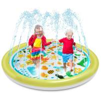 """OMWay Splash Pad for Toddlers, Kids Sprinkler,2020 New 69"""" Splash Mat for 2 3 4 5 6 7 8 Year Old Boys Girls,Outdoor Inflatable Water Learning Pool Toys,Best Gifts for Kids."""