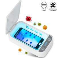 Marlrin UV Cell Phone Sanitizer Box, 3-in-1 Portable UV Light Phone Sanitizer Cleaning Box USB Charging with Aromatherapy Function Cleaner Case for Cell Phones, Cosmetics, Watches, Glasses